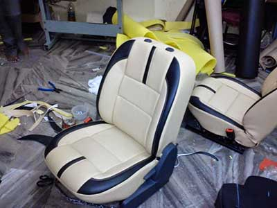 2 Leather car seats from Chesterfield to Frankfurt