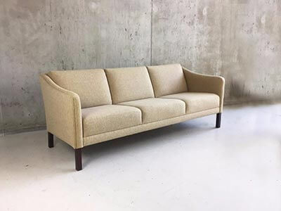 Danish three-seater sofa from London to Paris