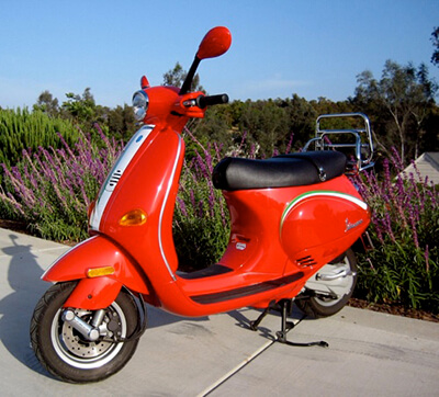 Vespa Piaggio from Canvey Island to Ripon