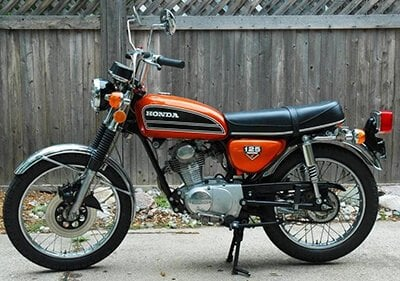 Honda CB125 from London to Barcelona